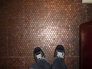 Vloer van pennies
